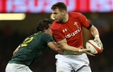 02.12.17 - Wales v South Africa - Under Armour Series 2017 - Dan Biggar of Wales is tackled by Francois Venter of South Africa.