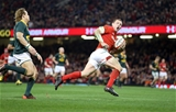 02.12.17 - Wales v South Africa - Under Armour Series 2017 - Hadleigh Parkes of Wales runs in to score his second try.