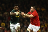 02.12.17 Wales v New South Africa - Under Armour 2017 Series - Siya Kolisi of South Africa takes on Rob Evans of Wales