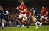 03.02.18 - Wales v Scotland, NatWest 6 Nations - Alun Wyn Jones of Wales takes on Ali Price of Scotland