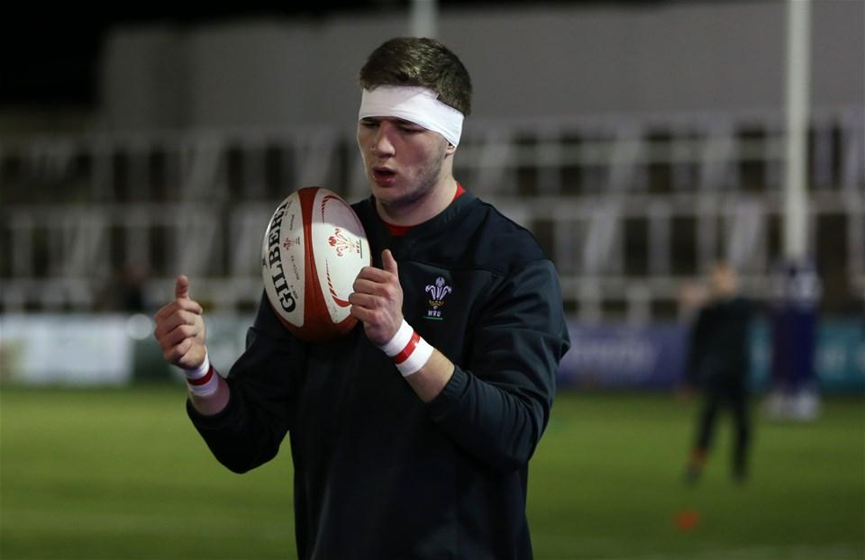 09.02.18 - England U20 v Wales U20 - NatWest 6 Nations - Wales players warm up before kick off.