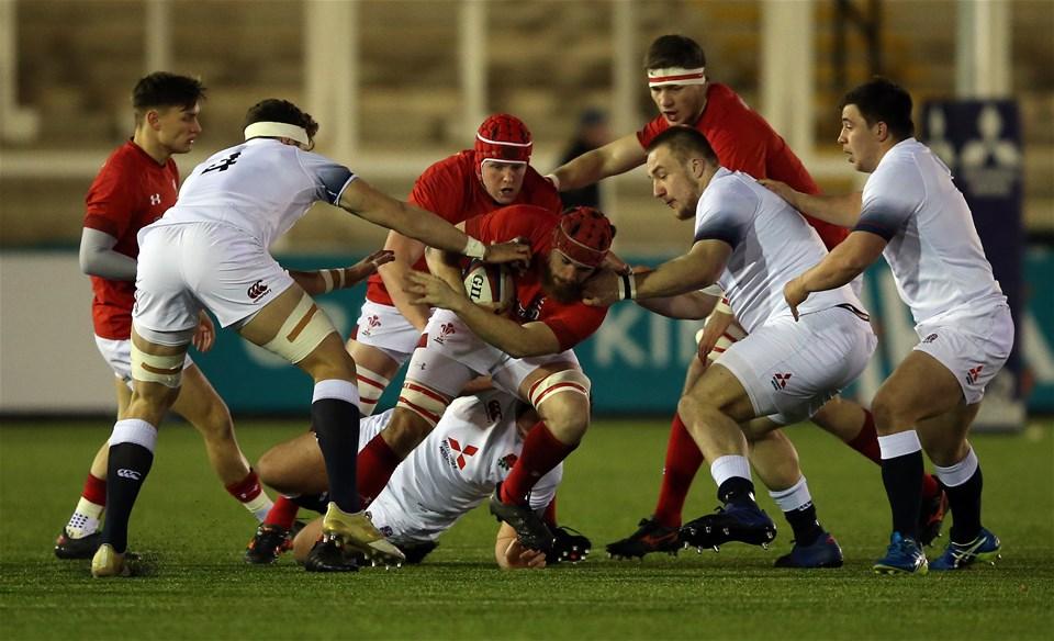 09.02.18 - England U20 v Wales U20 - NatWest 6 Nations - Morgan Morris of Wales in possession.