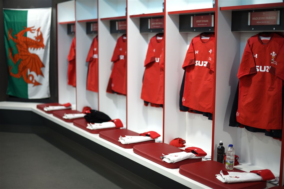 10.02.18 - England v Wales - NatWest 6 Nations -Wales dressing room.