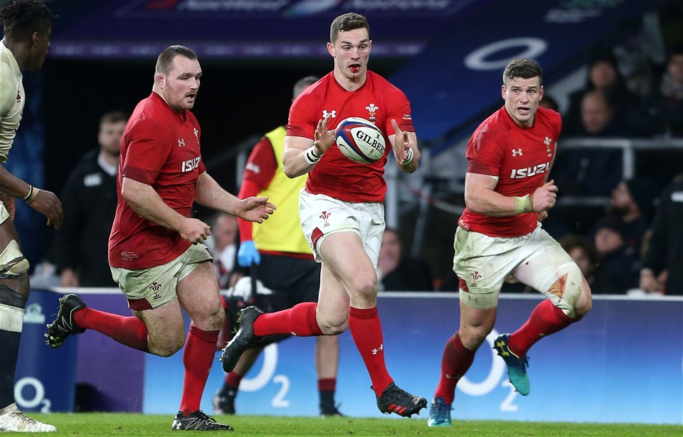 10.02.18 - England v Wales - Natwest 6 Nations - George North of Wales carries the ball.