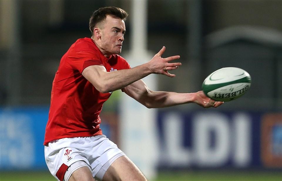 23.02.18 - Ireland U20s v Wales U20s - Natwest 6 Nations - Cai Evans of Wales.