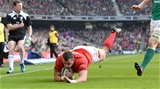24.02.18 - Ireland v Wales - NatWest 6 Nations 2018 -Aaron Shingler of Wales scores try.