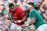 24.02.18 - Ireland v Wales - Natwest 6 Nations - Aaron Shingler of Wales is tackled by Andrew Porter of Ireland