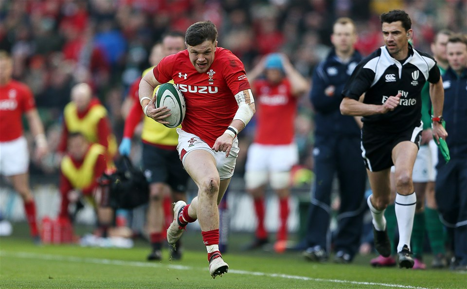 24.02.18 - Ireland v Wales - Natwest 6 Nations - Steff Evans of Wales.