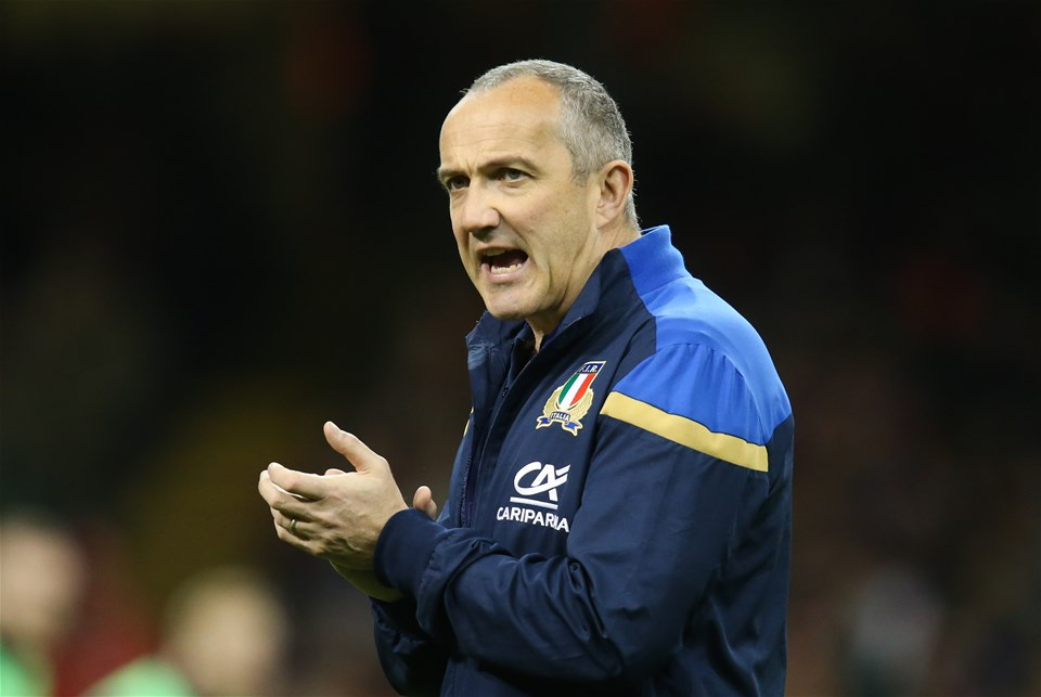 11.03.18 - Wales v Italy, NatWest 6 Nations 2018 - Italy head coach Conor OShea during warm up before the start of the match