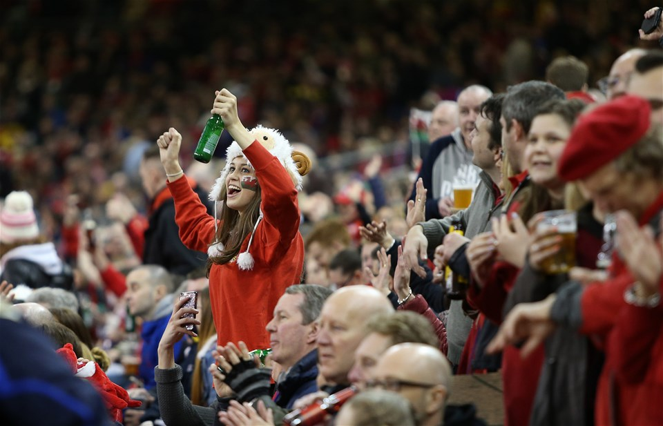 11.03.18 - Wales v Italy - Natwest 6 Nations Championship - Wales fans.