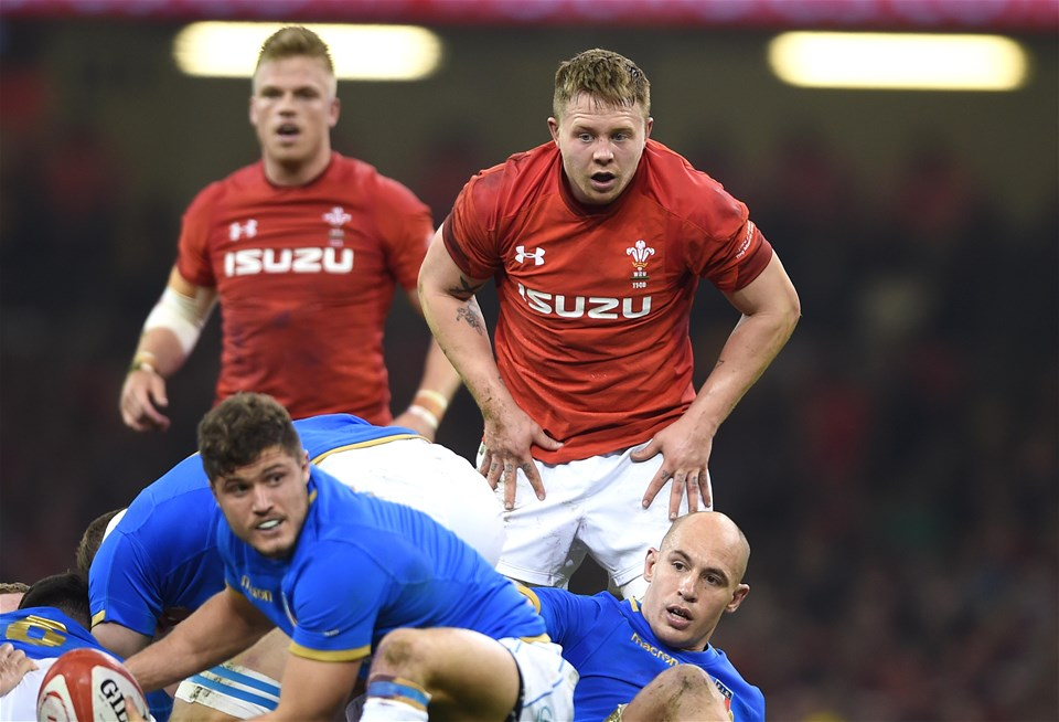 11.03.18 - Wales v Italy - NatWest 6 Nations 2018 -James Davies of Wales.