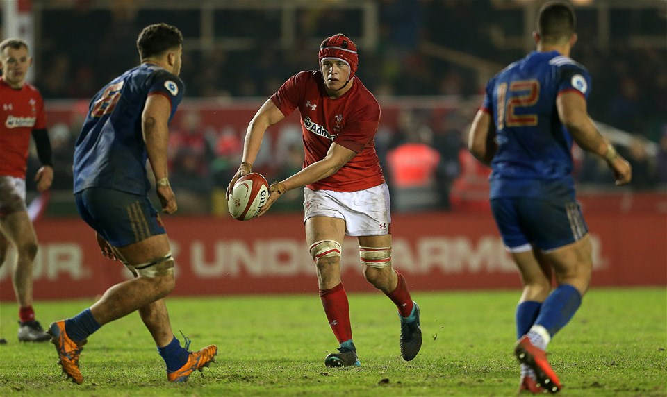 16.03.18 - Wales U20s v France U20s - Natwest 6 Nations Championship - James Botham of Wales.