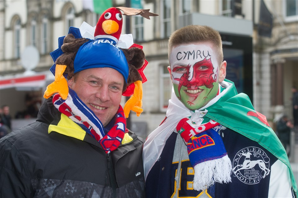 17.03.18 - Wales v France - NatWest 6 Nations Championship - Wales and France fans