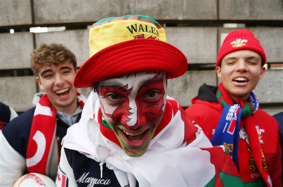 17.03.18 - Wales v France - Natwest 6 Nations Championship - Wales fans.