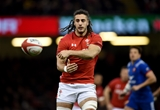 17.03.18 - Wales v France - NatWest 6 Nations - Josh Navidi of Wales gets the ball away