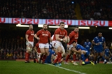 17.03.18 - Wales v France - NatWest 6 Nations - Scott Williams of Wales gets into space