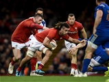 17.03.18 - Wales v France - NatWest 6 Nations - Josh Navidi of Wales is tackled by Wenceslas Lauret of France