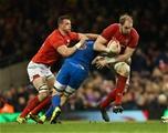 17.03.18 - Wales v France, NatWest 6 Nations 2018 - Alun Wyn Jones of Wales takes on Wenceslas Lauret of France