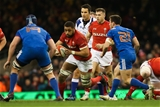 17.03.18 - Wales v France, NatWest 6 Nations 2018 - Taulupe Faletau of Wales takes on Bernard Le Roux of France  and Baptiste Couilloud of France