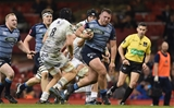 28.04.18 - Cardiff Blues v Ospreys - Guinness PRO14 -Dillon Lewis of Cardiff Blues gets into space.