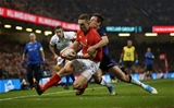 03.11.18 - Wales v Scotland - Under Armour Series - George North of Wales try was disallowed.