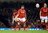 03.11.18 - Wales v Scotland - Doddle Weir Cup - Leigh Halfpenny of Wales kicks for goal