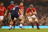 03.11.18 - Wales v Scotland, Under Armour Series 2018 - Dan Lydiate of Wales takes on Jamie Ritchie of Scotland