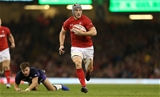 03.11.18 - Wales v Scotland - Under Armour Series - Jonathan Davies of Wales breaks away to score a try.