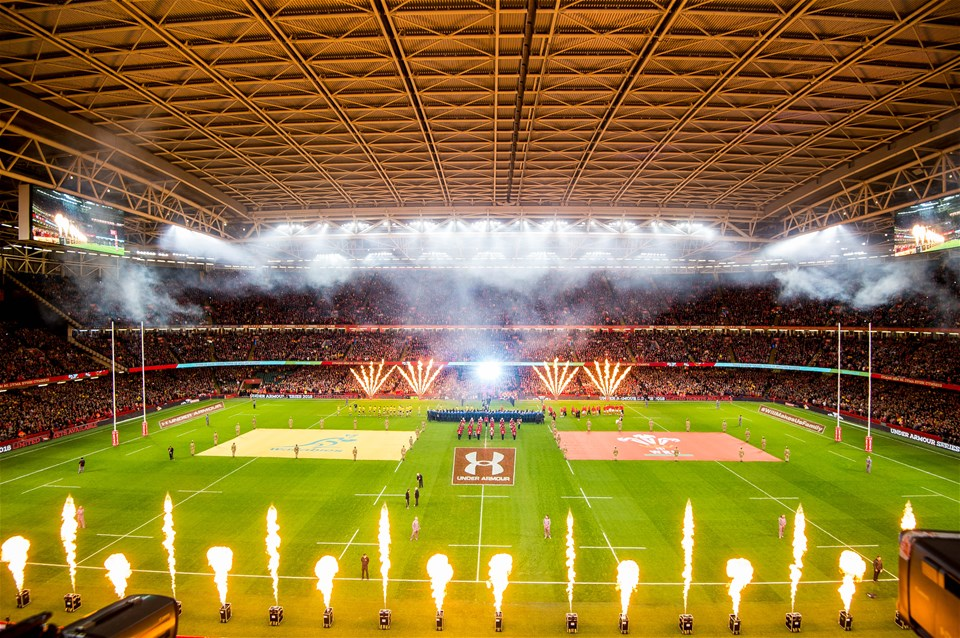 10.11.18 - Wales v Australia, Under Armour Series -  Pyrotechnics ahead of the game
