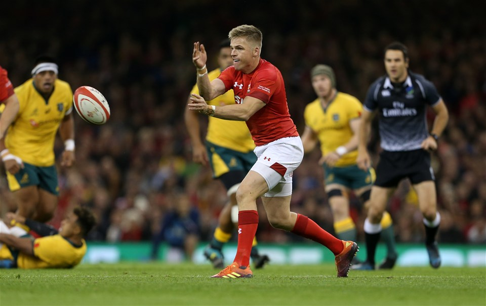 10.11.18 - Wales v Australia - Under Armour Series 2018 - Gareth Anscombe of Wales.