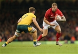 10.11.18 - Wales v Australia, Under Armour Series 2018 - Ross Moriarty of Wales takes on Michael Hooper of Australia