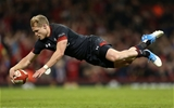 17.11.18 - Wales v Tonga - Under Armour Series - Aled Davies of Wales runs in to score a try.