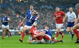 01.02.19 - France v Wales - Guinness 6 Nations 2019 -Liam Williams of Wales goes over for his try to be disallowed.