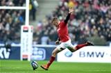 01.02.19 - France v Wales - Guinness 6 Nations 2019 -Gareth Anscombe of Wales kicks at goal.