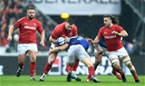 01.02.19 - France v Wales - Guinness 6 Nations 2019 -Rob Evans of Wales is tackled boy Guilhem Guirado of France.