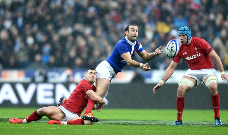01.02.19 - France v Wales - Guinness 6 Nations 2019 -Morgan Parra of France is tackled by Tomos Williams of Wales.
