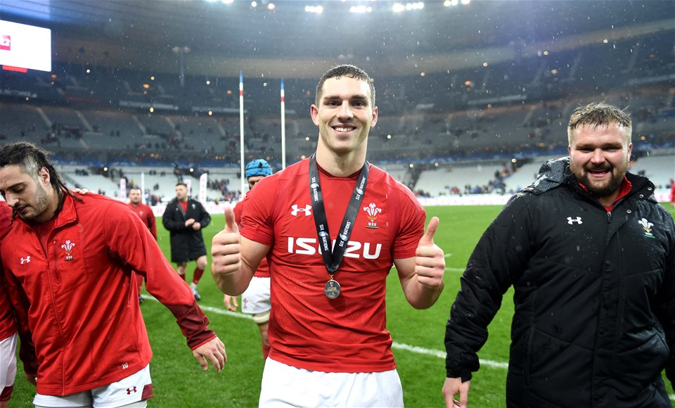 01.02.19 - France v Wales - Guinness 6 Nations 2019 -George North of Wales at the end of the game.