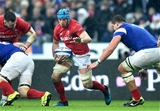 01.02.19 - France v Wales - Guinness 6 Nations 2019 -Justin Tipuric of Wales takes on Paul Willemse of France.