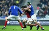 01.02.19 - France v Wales - Guinness 6 Nations 2019 -Josh Navidi of Wales is tackled by Sebastien Vahaamahina of France.