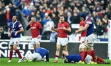 01.02.19 - France v Wales - Guinness 6 Nations 2019 -Gareth Davies of Wales celebrates win.