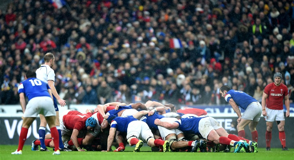 01.02.19 - France v Wales - Guinness 6 Nations 2019 -Scrum.