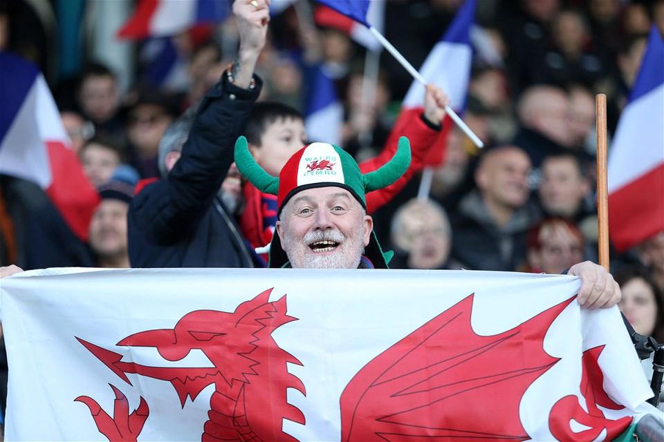 03.02.19 - France U20s v Wales U20s - U20s 6 Nations Championship - Wales fans.