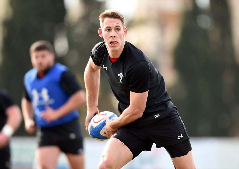07.02.19 - Wales Rugby Training -Liam Williams during training.