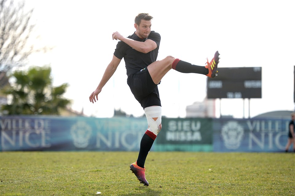 07.02.19 - Wales Rugby Training -Dan Biggar during training.