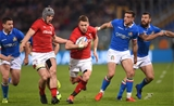 09.02.19 - Italy v Wales - Guinness Six Nations -Liam Williams of Wales gets into space.