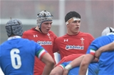 10.02.19 - Italy v Wales - Guinness U20 Six Nations - Ed Scragg  and Teddy Williams