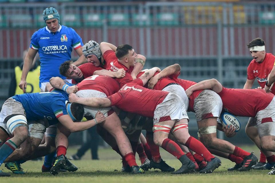 10.02.19 - Italy v Wales - Guinness U20 Six Nations - Wales maul