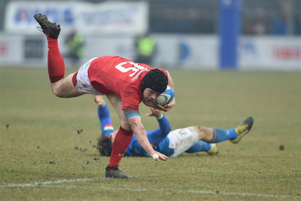 10.02.19 - Italy v Wales - Guinness U20 Six Nations - Ioan Davies
