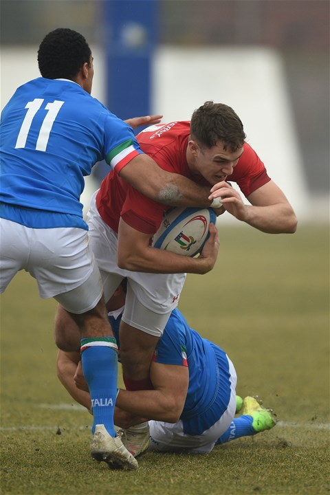 10.02.19 - Italy v Wales - Guinness U20 Six Nations - Aneurin Owen