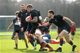 13.02.19 - Wales Rugby Training -Josh Turnbull during training.
